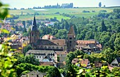 View of Wissembourg with the Church of St. Pierre-et-St.Paul, Alsace, France
