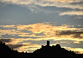 Cochem on the Moselle with Winneburg ruins, Rhineland-Palatinate, Germany