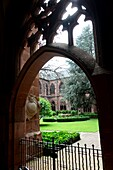 At the cloister of the cathedral of Mainz, Rhineland-Palatinate, Germany