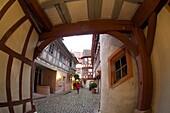 Evening in Neustadt on the Palatinate Wine Route, Rhineland-Palatinate, Germany