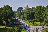 Alexander Garden on the western wall of the Kremlin in Moscow, Moskva, Moscow-Volga Canal, Russia, Europe