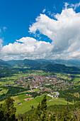 Panorama from the Schattenberg, 1692m, on Oberstdorf, Allgäu, Bavaria, Germany, Europe