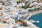 Harbour view, Astypalea, Dodecanese Islands, Greek Islands, Greece, Europe