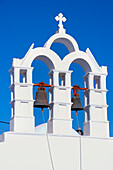 Church tower, Hora, Amorgos, Cyclades, Aegean, Greek Islands, Greece, Europe