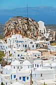 View of Chora, Amorgos, Cyclades Islands, Greece