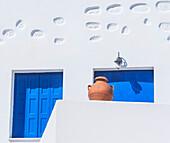 Architectural detail, Chora, Amorgos, Cyclades Islands, Greece