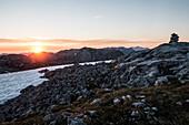 Sunrise in the Hagen Mountains, Berchtesgaden Alps, Bavaria, Germany