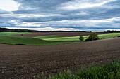 Fields in rural Bavaria, Kranzberg, Bavaria, Germany