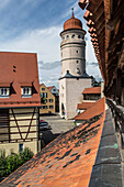City wall and old town of Noerdlingen, Bavaria, Germany