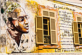 Mural on a house in Cape Verde, Africa