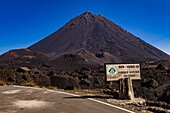 The Pico do Fogo on the island of Fogo is an active volcano on the Cape Verde Islands