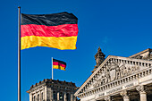Reichstag in Berlin with a dedication to the German people