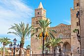San Salvatore Cathedral, Piazza Duomo, Cefalu, Sicily, Italy,