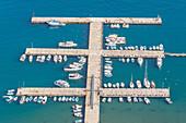 Cefalu marina, elevated view, Cefalu, Sicily, Italy