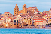 View of Cefalu town, Cefalu, Sicily, Italy