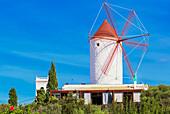 Windmill, Es Mercada, Minorca, Balearic Islands, Spain