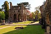 Dryburgh Abbey, romantische Abtei-Ruine, Borders, Schottland, UK