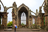 Melrose Abbey, Abtei-Ruine, Zisterzienser, Kloster, Borders, Schottland, UK
