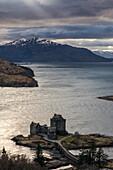 Eilean Donan Castle on Loch Duich, Highlands, Dornie, Scotland, UK