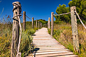 Nature trails in a Spanish natural park on the island of Menorca