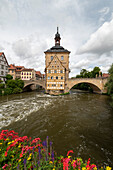 Historic town hall on the Regnitz river, Bamberg