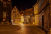 Half-timbered houses in Finkenherd, Unesco World Heritage, Quedlinburg, Saxony-Anhalt, Germany