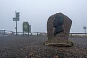 Heinrich Heine monument, Brocken plateau, Harz, Schierke, Saxony-Anhalt, Germany