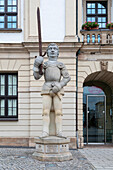 Magdeburg Roland, Roland figure in front of the town hall, Magdeburg, Saxony-Anhalt, Germany