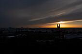 Magdeburg Cathedral at sunrise, Magdeburg, Saxony-Anhalt, Germany