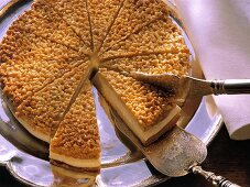 Bee-sting cake with almond topping