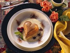Heart-shaped Chocolate Flummery