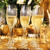 Many Champagne Flutes