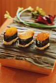 Sushi Variations with Caviar