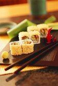 Maki-Sushi with Sesame Seeds