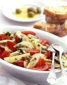 Spicy fennel and tomato salad