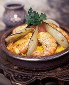 Shrimp tajine with braised fennel (Morocco)