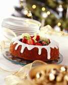 Savarin filled with various fruits