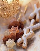 Truffle sticks and Xmas cookies