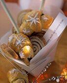 Chocolate nut croissant and cinnamon snails