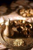 Oriental coffee scene with mocha (Syria)