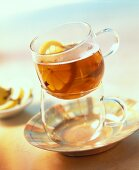 Tea punch with brown rum