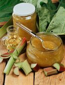 Rhubarb jam with orange liqueur