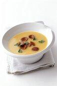 Potato soup with chorizo (spicy garlic sausage)