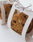 Chocolate chip cookies in gift packaging