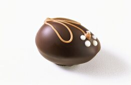 Egg-shaped chocolate