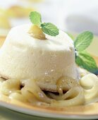 Quark souffle with ginger pears
