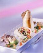 Calamari ripieni (Squid with rice & clam stuffing)