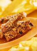 Muesli bar with nuts