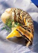 A langouste tail