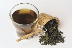 Nettle tea and dried leaves (Urtica diocia)